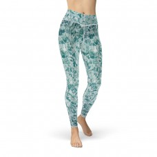 Tranquil Water Pool Cut and Sew Swimmers Design Sport Leggings
