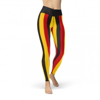 Black, Yellow and Red Vertical Striped Leggings (Germany)
