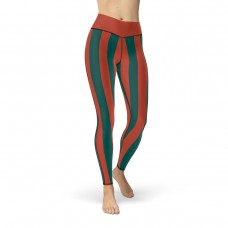Red and Green Vertical Striped Leggings (Morocco)