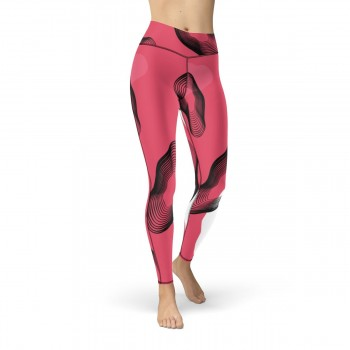 Subtle Red Camo Cut & Sew Sport Leggings