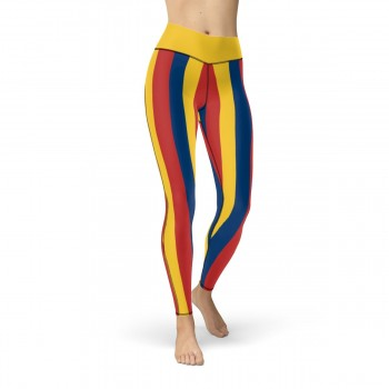 Yellow, Red and Blue Vertical Striped Leggings (Colombia)