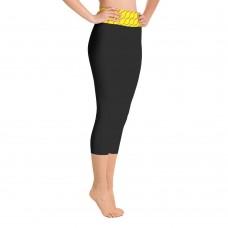Softball Seamhead Yoga Capri Black Leggings