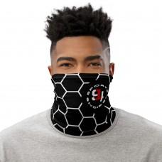 Black Soccer Ball Neck Gaiter, Headband, Neck Warmer