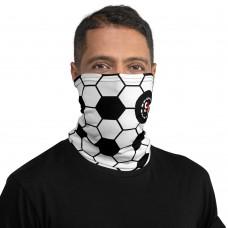 Black and White Soccer Ball Neck Gaiter, Headband, Neck Warmer