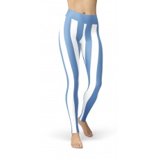 Blue and White Vertical Striped Leggings (Argentina)
