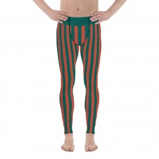 Red and Green Vertical Striped Men's Leggings (Morocco)