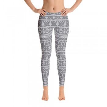 Ugly Sweater Leggings for Women (Grey)