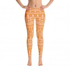 Ugly Sweater Leggings for Women (Orange)