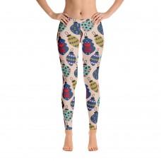 Women's Christmas Pattern Leggings (Tan)