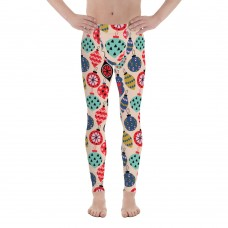 Men's Christmas Pattern Leggings (Tan)