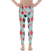 Men's Christmas Pattern Leggings (Aqua)